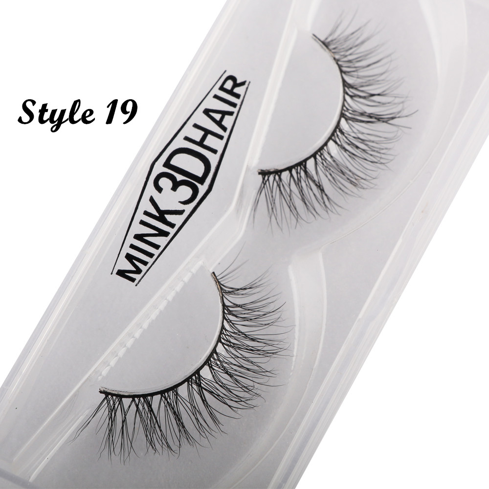Daily life Mink hair 1 Pair Natural Long Sparse Cross False Eyelashes Fake Eye Lashes Extensions Makeup Tools high quality