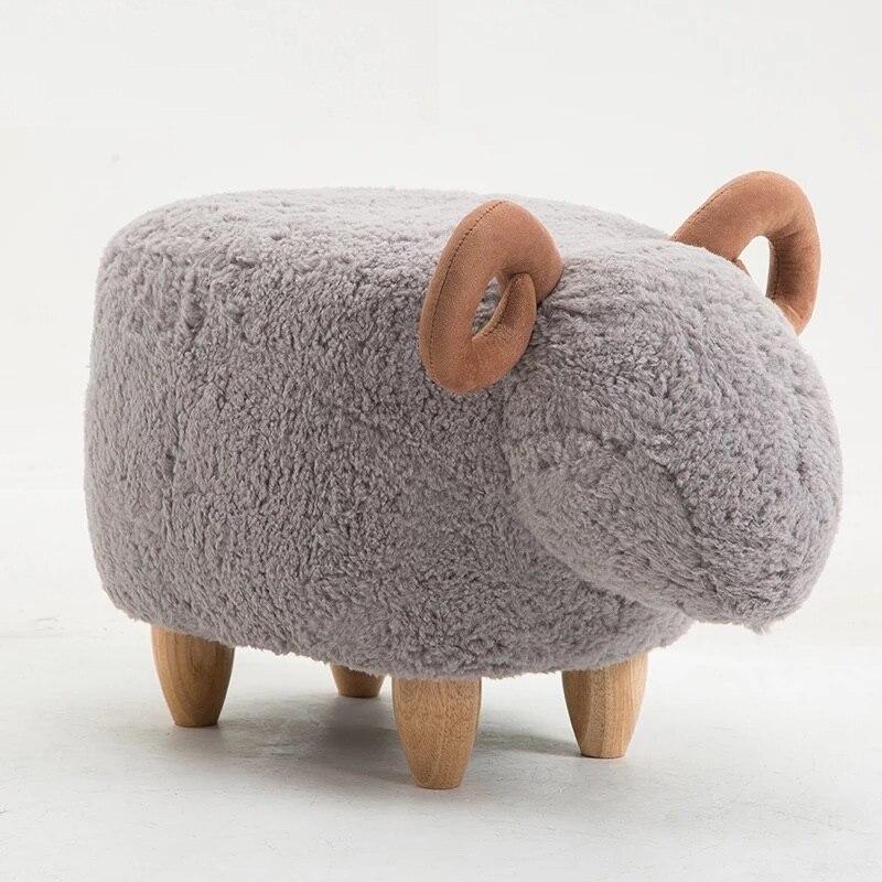 Livraison gratuite U-BEST chaise de mouton mignon et drôle petite créature dessin animé chaise pour fille enfant tabouret pouf pouf