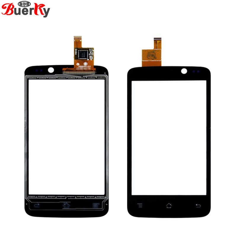 BKparts 100% Tested 5pcs Touch screen For Fly IQ447 Era life 1 Touchscreen front glass panel Digitizer Replacement Free shipping