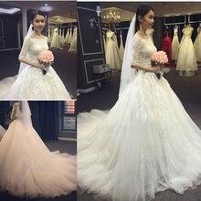 Free veil robe de mariage White Ivory US2 4 6 8 10 12 Off Shoulder Christmas
