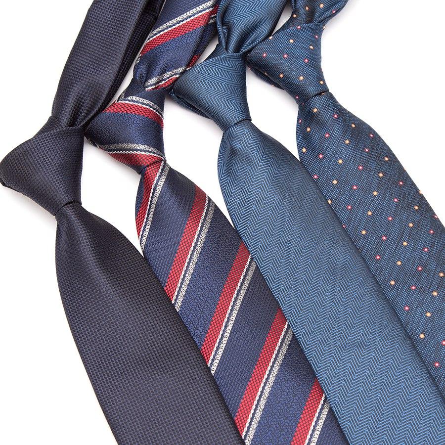 Xgvokh Men Fashion Ties Luxury Business Neck Tie Striped For Formal Bowtie Wedding Party Gifts Gravatas Male Shirt Dress Necktie