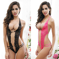 Fashion Cheap Three Points Sexy Lingerie Elastic Exotic Lingerie Sets Transparent Teddies Lace SM Lingerie