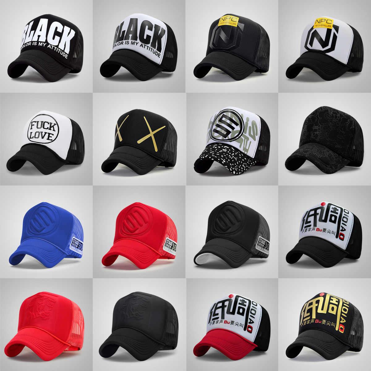 4eaf79c72153f Wholesale Adult Trucker Cap Men And Women Hiphop Punk Rock Snapback Hats  Male Summer Sunshade Mesh