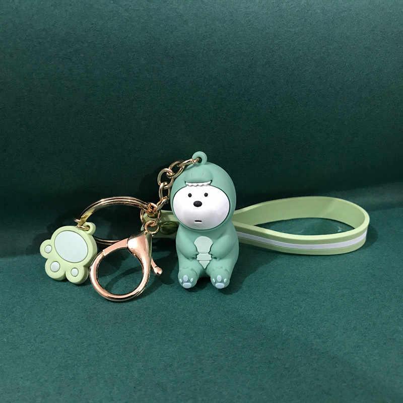 Nós nua ursos linda boneca keychain figuras de brinquedo Urso Panda Icebear cosplay acessórios chave pingente anel caçoa o Presente