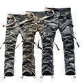 ZOOB MILEY Military Army Camouflage Cargo Pants Plus Size Multi-pocket Trousers causal Baggy cargo outerdoor pants men (No Belt)