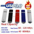15-130 MB/S Leia Alta Velocidade USB 3.0 Flash Drive 128 GB 16 GB 32 GB 64 GB HOT Pen Drive 512 GB 1 TB 2 TB Memory Stick Chave USB Presente 256 GB