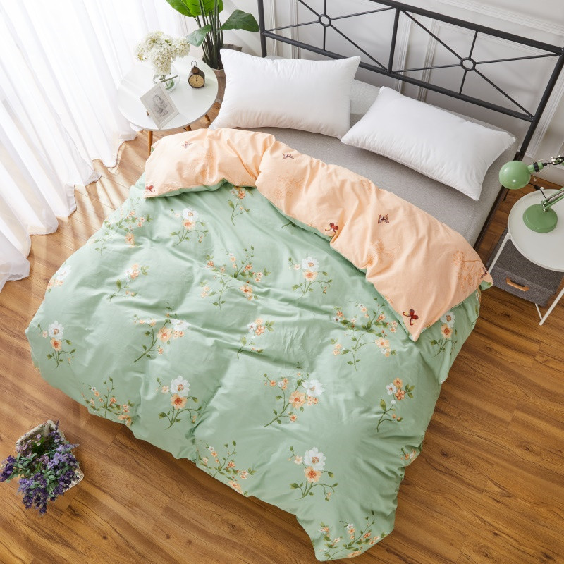 Modern Style Green Print 1pcs Student Child Adult Bedding 100% Cotton Full Queen King Size Duvet Cover Quilts Comforter Case