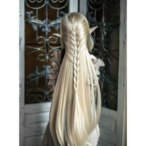 cabelo sintetico bonito em linha reta 1 3 1 4 1 6 bjd boneca perucas