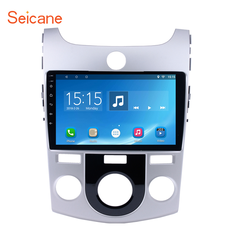 Seicane 9 2DIN Quad-core Android 6.0 Voiture GPS Radio pour 2008-2012 KIA Forte MT avec FM Bluetooth WIFI support USB 1080 p DAB DVR