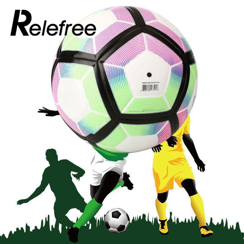 Relefree Sports 2016-17 Soccer Ball Anti-Slip Football Match training Soccer Ball Gift SIZE 5
