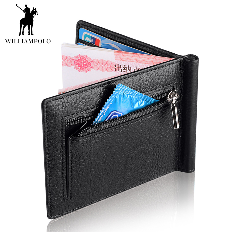 WILLIAMPOLO 2018 New Slim Genuine Leather Mens Wallet Cowhide Cover Coin Purse Small Brand Male Credit Card Walets POLO175123 ...