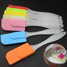 Силиконовые инструменты для выпекания торта с длинной ручкой скребок крема скребок для масла смешивающий инструмент