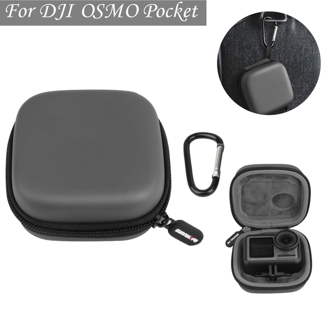 Sports camera mini Carrying case protection bag Portable box with D Keychain buckle for dji OSMO ACTION camera Accessories