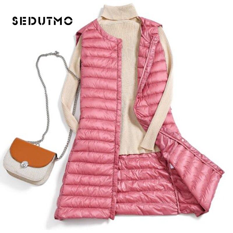 SEDUTMO Winter Plus Size 3XL Womens   Down   Jackets Long Ultra Light Duck   Down     Coat   Autumn Puffer Jacket Slim Parkas ED487