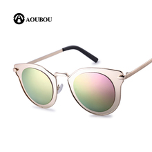 AOUBOU Brand Design Cat Eye Sunglasses Women Anti-Reflective Polycarbonate Lens Female Vintage Sun Glasses UV400 Oculos AB706