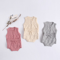 MILANCEL autumn new baby clothes knit vest and bloomer 2pcs boys clothes set 0 24 M baby girls clothing