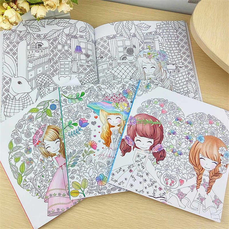 Libro De Colorear De 100 Paginas Para Chicas Hermosas Libro De
