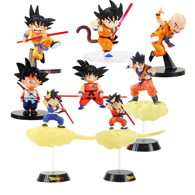 Box Dragon Ball Z Son Gokou Goku PVC Action Figures Childhood Ver Akira Toriyama Collectible Model Toys Dolls Dragonball Figuren 6pcs set dragon ball z son goku vegeta broly kakarotto battle ver pvc action figures dragonball figure toys collection model toy