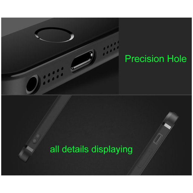 Unti-finger print Matt Case for iPhone 5S Case 5 SE with bright line Rubber TPU silicone material 0.8mm ultra-thin free shipping