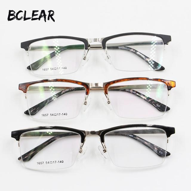 bclear new arrival fashion unisex alloy optical frame cultured man eyebrow style eyewear half eyeglasses frame - Most Popular Eyeglass Frames