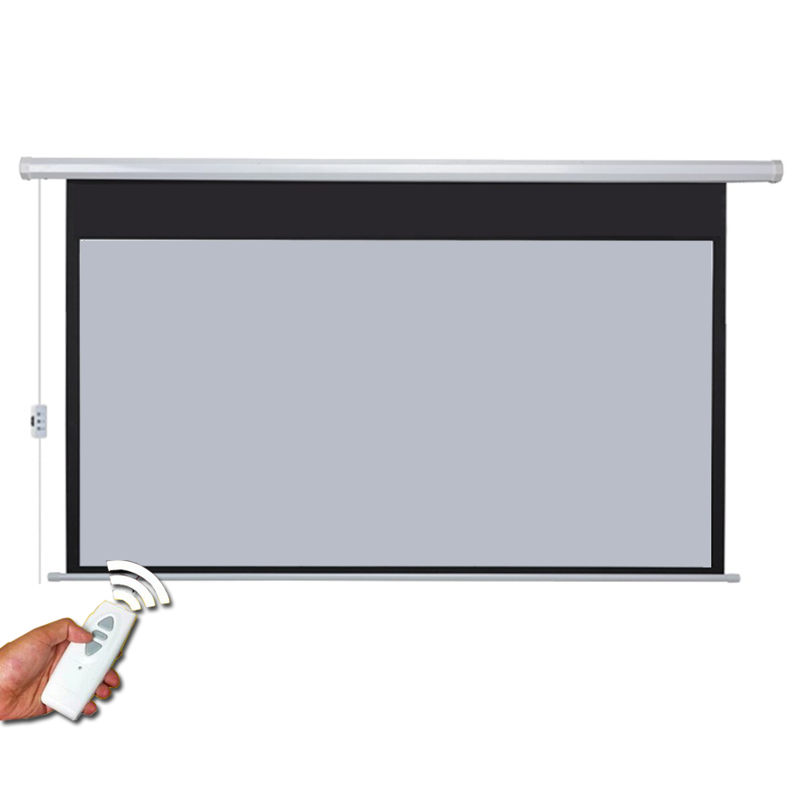 100 inches 16:10 Electric Motorized Projector Screen Pantalla Proyeccion 3D Proyector Projection with Remote Control wholesale 100 16 9 hd electric projection screen with remote controller motorized projector pantalla proyector screen
