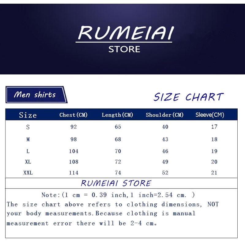 RUMEIAI Fashion Men T-Shirts Male US Size T shirt Homme Summer cotton Short Sleeve T Shirts Brand Men's Tee Shirts Man Clothes 1