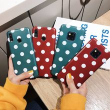 Cute Dots Points Polka IMD Soft Case for Samsung Mate20 Mate20 Pro P20 P20 Pro Mate10 Mate10 Pro Phone Cover Shell Coque Fundas(China)