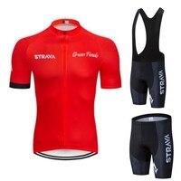 Strava 2019 pro conjuntos de ciclismo kleding bicicleta uniforme zomer mans wielertrui conjunto estrada fiets jerseys mtb fiets slijtage|Kits ciclismo| |  -