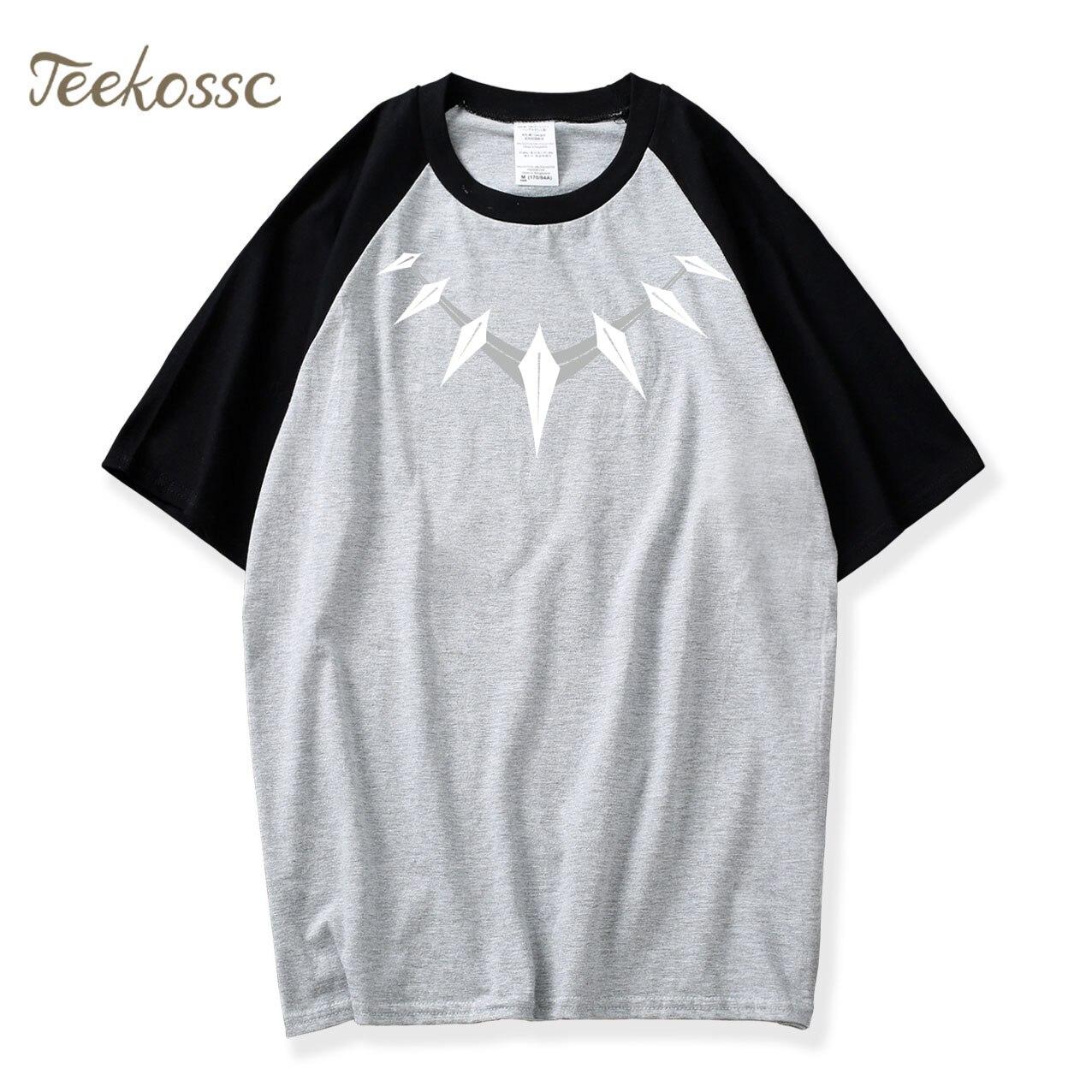 Black Panther T Shirt Men Necklace Logo Mens T Shirts 2018 Summer Tops Hip Hop Tee Camiseta Tshirt Killmonger Wakanda T-Shirt