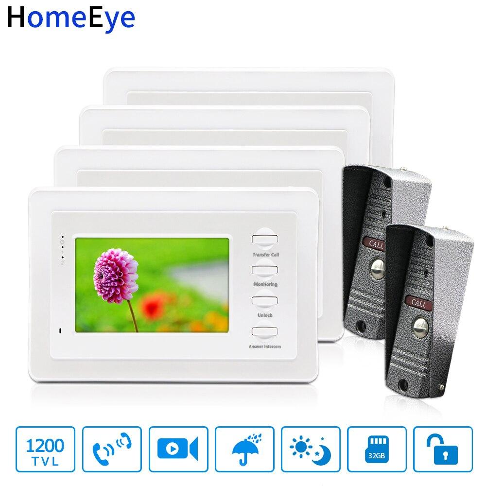 Russian OSD Video Door Phone Video Intercom Doorbell Camera Door Control Access System Indoor Monitor Security Motion Detection Video Intercom     - title=