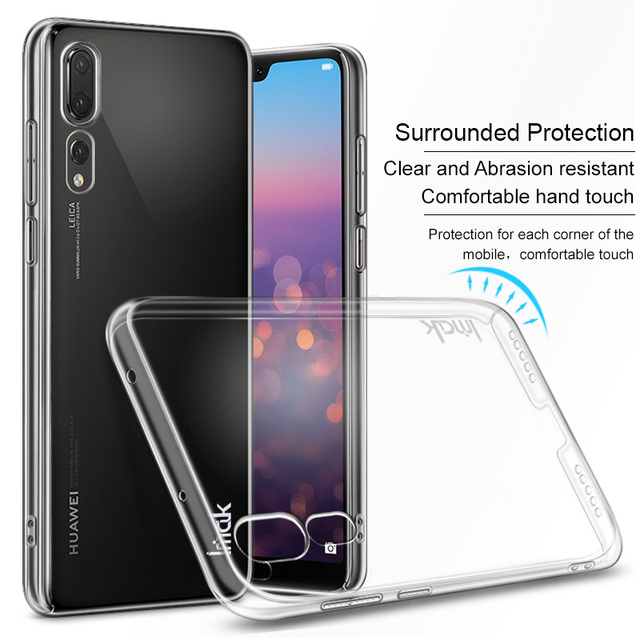 2595e1f603196 For Coque Huawei P20 Pro Case IMAK Clear Crystal PC Hard Plastic Back Cover  Case For Huawei P20 Pro Transparent Funda
