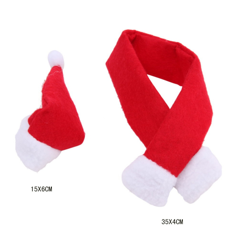 Christmas Gift Decoration Festival Glass Hat Scarf Wine Bottle Cover Decoration Event Party Supplies Xmas Gift