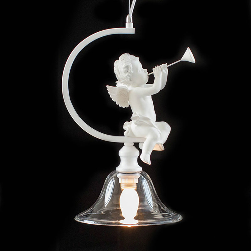 Nordic style resin Angel chandelier aisle bedroom living room child room lamps European one piece E14 violin horn pendant lampsNordic style resin Angel chandelier aisle bedroom living room child room lamps European one piece E14 violin horn pendant lamps