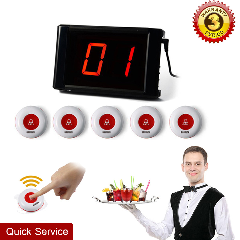 Restaurant Calling System Guest Pager LCD Display Waiter Call Button Guest Paging System Pagers Hospital Call System 171+5*01A coffee shop service restaurant waiter buzzer table call button guest paging system 20 bell with 2 receivers