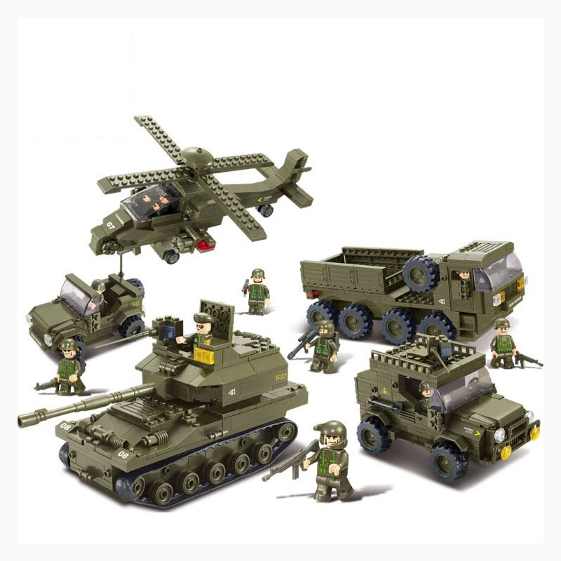 996Pcs Military Block Army Joint Attack Truck Building Blocks Compatible Legoings Hobbies For Kids Intelligence Toy 2017 wholesale new army block educational military war block kids tank helicopter model building blocks toy best gift for kids