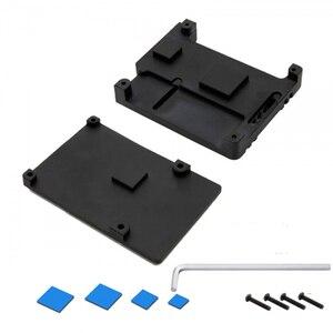 Image 4 - Nova CNC Da Liga de Alumínio Caso Com 3 Dupla Ventilador de Refrigeração do dissipador de Calor para Raspberry Pi Modelo B/Pi 3 B +