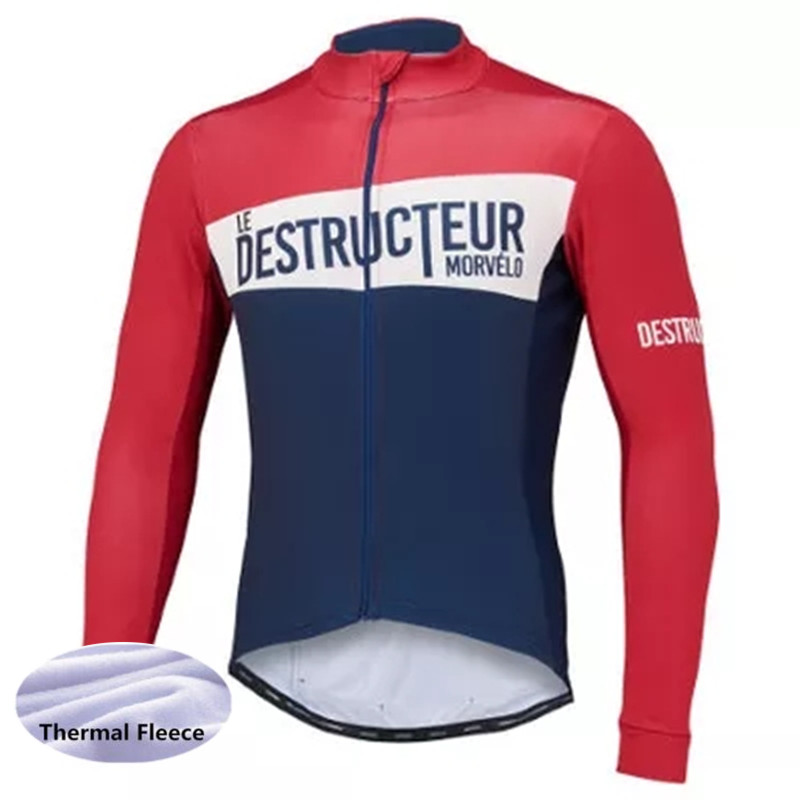 cd755a64f Winter Long Sleeve Cycling Jersey Jacket Ropa Ciclismo Bicycle Pro ...