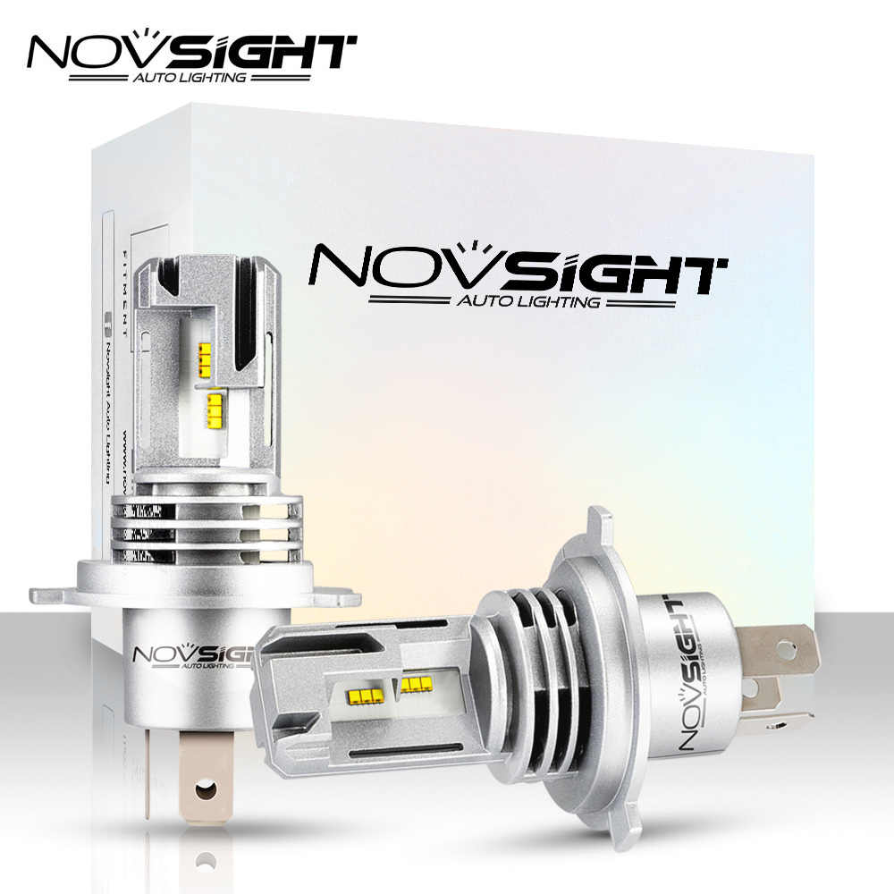 Novsight Mini 12V car accessories H4 Led H7 H11 H8 6000K white Car Headlight Bulbs 10000LM 9005 HB3 9006 HB4  LED Auto headlamps
