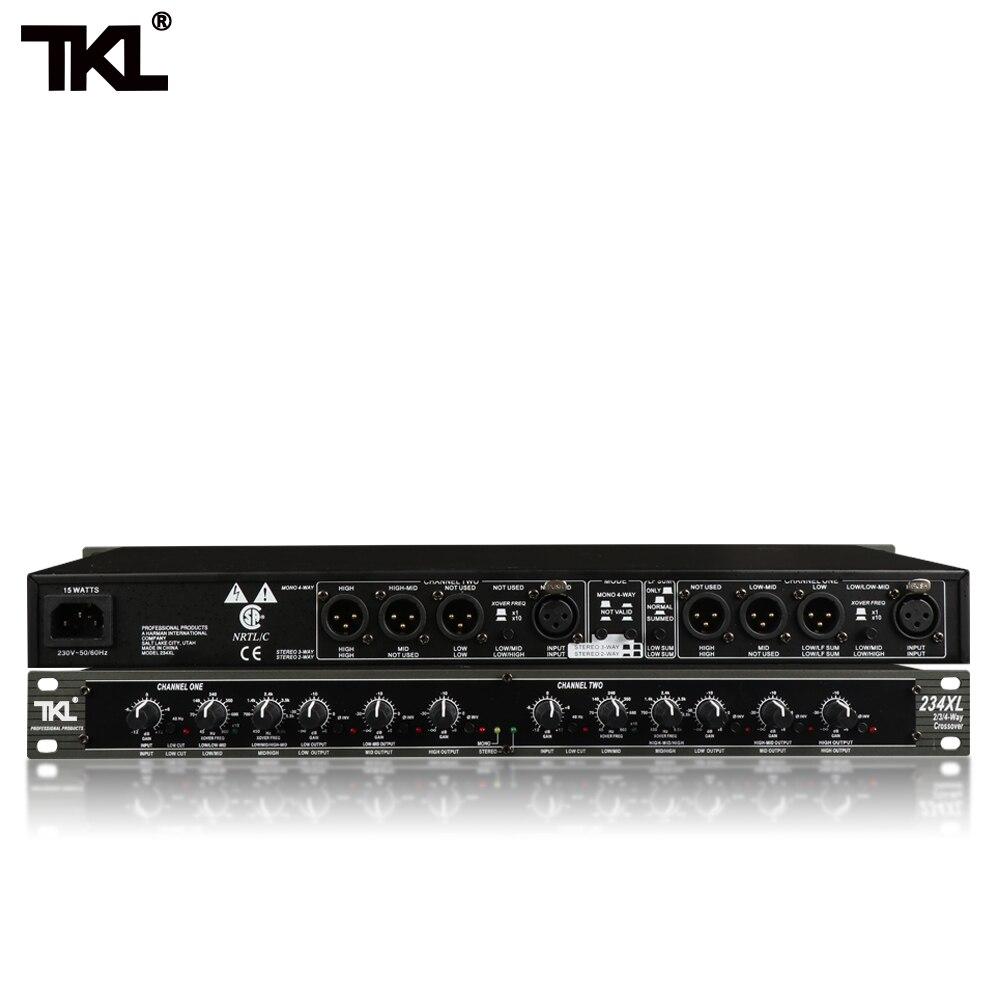 TKL Mono 4-Weg Crossover Hohe Qualität Stereo 2/3 Weg 234XL Professionelle musical instructment crossover Elektronische crossover