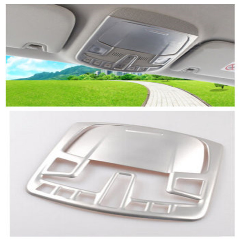 BBQ@FUKA ABS Matt Car Front Reading light lamp Frame cover trim Styling Sticker 2pcs Fit For Ford fusion 2013 2014 2015