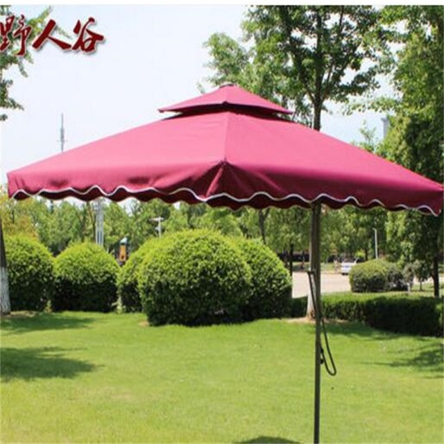 2 2m Diameter Square Summer Outdoor Tent Umbrella Guard Post Folding Portable Beach Sun