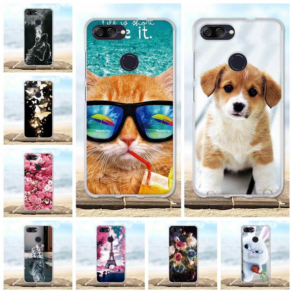 Phone Cases For Asus Zenfone Max Plus M1 ZB570TL Cover Painted Protective Silicon 3D Animal Cover For Asus MAX Plus ZB570TL Case