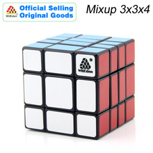 WitEden & Oskar Mixup 3x3x4 Magic Cube 334 Cubo Magico Professional Speed Neo Puzzle Kostka Antistress Fidget Toys For Boy