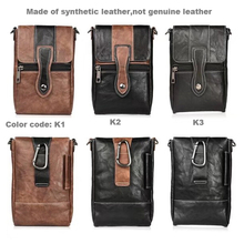 Holster Man Shoulder Belt Clip Mobile Phone Leather Case For Lenovo P2/K8 Note/K6 Note/A7000 Turbo/Vibe P1 Turbo/K5 Note/K4 Note