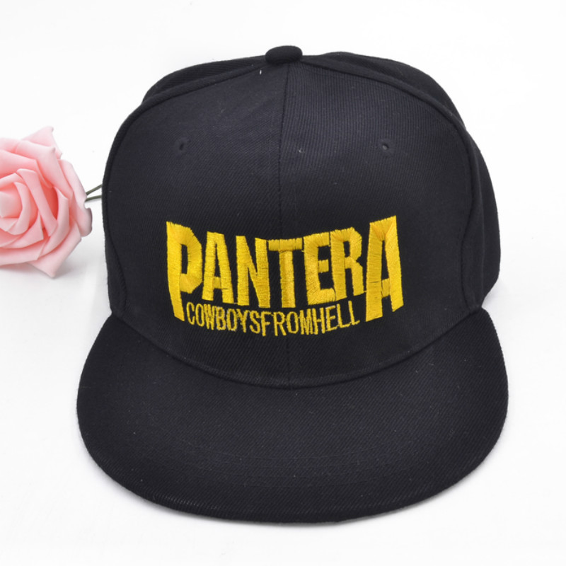 Men women Fashion embroidery letter Pantera Baseball Cap  High Quality Cotton hat for men brand pantera Heavy metal band hat pantera pantera reinventing hell the best of pantera cd dvd