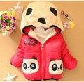 Varejo! crianças Roupas panda Dos Desenhos Animados Outwear Criança Desgaste Do Inverno Menino Espessamento Outerwear Casaco Crianças algodão-acolchoado jacket