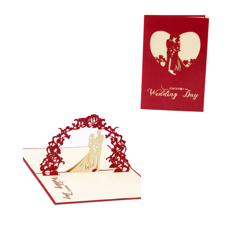 3D Pop Up Wedding Cards Greeting Card Anniversary Invitation – Personalised Valentines Cards