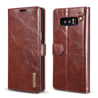Vintage Leather Case For Samsung Galaxy Note 8 Magnetic Wallet Cover 2 In 1 Detachable Phone
