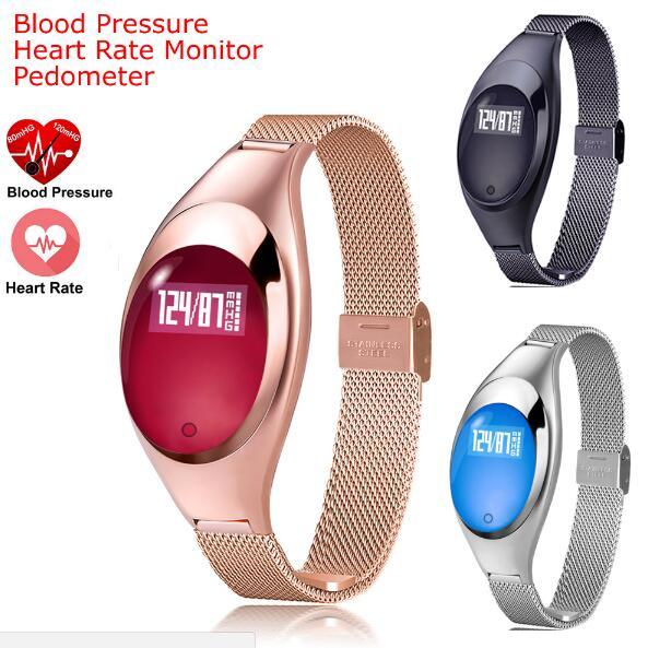 imágenes para 2017 Toper Banda Z18 IP67 Impermeable Mujeres de Los Hombres de Moda Elegante Reloj de Pulsera Deportivo SmartBand Podómetro Relojes de Ritmo Cardíaco