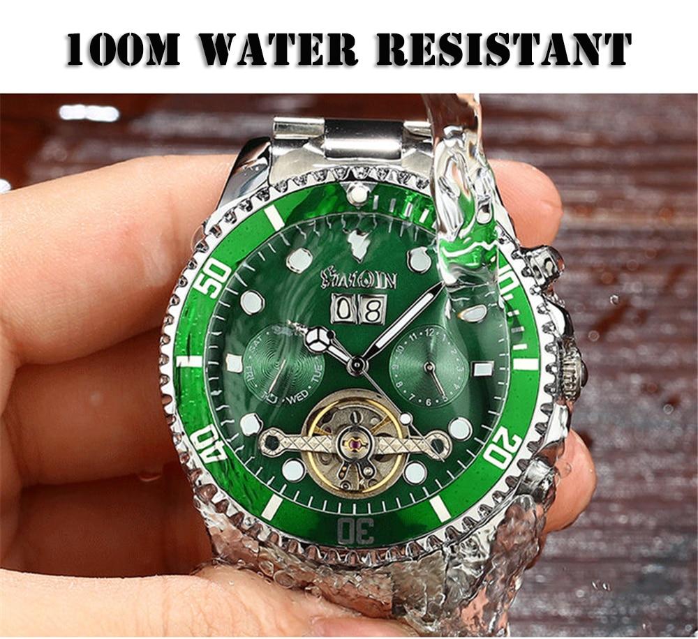 mecânico automático relógios masculinos marca de luxo